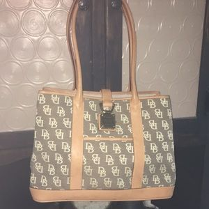 Vintage Dooney & Bourke with Leather and Canvas.